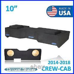 BLUE 2014-2018 Gmc Sierra Crew Cab 10 Dual Sealed Sub Box Subwoofer Enclosure