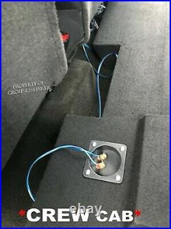 BLUE 2014-2018 Gmc Sierra Crew Cab 12 Dual Sealed Sub Box Subwoofer Enclosure