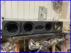 CUSTOM Subwoofer Box 4-8 Or 6.5 Subs. 1999-2021 Chevy Silverado GMC Sierra