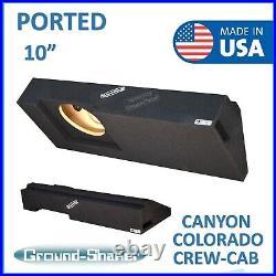 Chevy Colorado Crew Cab 2015-2018 10 Single Ported Sub Box Subwoofer Enclosure