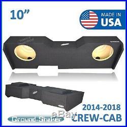 Chevy Silverado Crew-Cab 2014-2018 10 Dual Sub Box 10 Subwoofer Enclosure