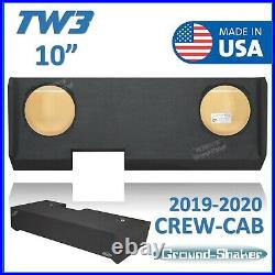 Chevy Silverado Crew Cab 2019 10 Sub Box Subwoofer Enclosure For JL Audio TW3