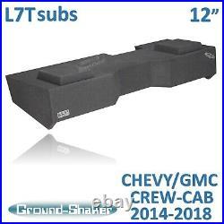 Chevy Silverado Crew-Cab For Kicker L7T 12 Dual Subwoofer Enclosure Sub Box