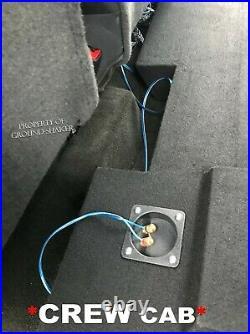 Chevy Silverado Crew cab 2014 2015 12 Single Ported Sub box Subwoofer Enclosure