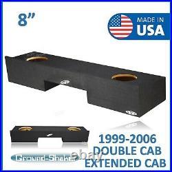 Chevy Silverado Double Cab 1999-2006 8 Dual Sealed Sub Box Subwoofer Enclosure
