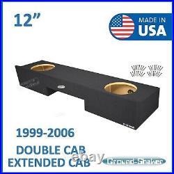 Chevy Silverado Extended Cab 1999-2006 12 Dual Sub Box Subwoofer Enclosure