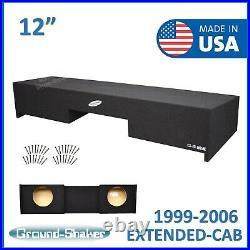 Chevy Silverado Extended-Cab 1999-2006 12 Dual Sub Box Subwoofer Enclosure