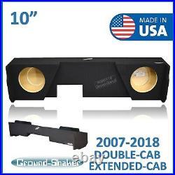 Chevy Silverado Extended Cab 2007-2018 10 Dual Sub Box Subwoofer Enclosure