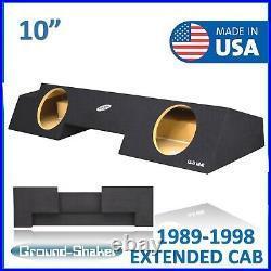 Chevy Silverado Extended Cab 89-98 Dual 10 Sealed Subwoofer Enclosure Sub Box