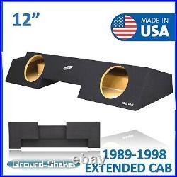 Chevy Silverado Extended Cab 89-98 Dual 12 Sealed Subwoofer Enclosure Sub Box
