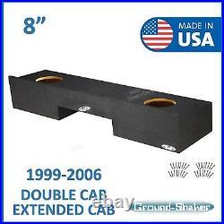 Chevy Silverado Extended cab 1999-2006 8 Dual sub box subwoofer Enclosure