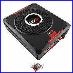 DS18 8 600W Under-Seat Compact Car Amplified Black Subwoofer SQBASS8