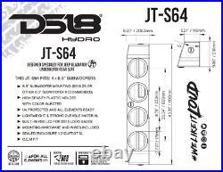 DS18 JT-S64 Quad 6.5 Subwoofer Enclosure Jeep Wrangler Gladiator JT Sub Box