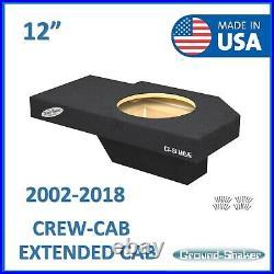 Dodge Ram 1500 2500 3500 Crew Cab 02-2018 12 Single Sub Box Subwoofer Enclosure