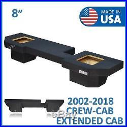 Dodge Ram Crew Cab & Extended Cab 8 Dual Solo Baric Sub Box Subwoofer Enclosure