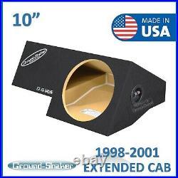 Dodge Ram Extended-Cab 1998-2001 10 Single Sealed Sub Box Subwoofer Enclosure
