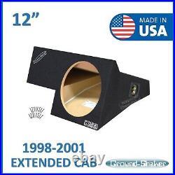 Dodge Ram Extended-Cab 1998-2001 12 Single Sealed Sub Box Subwoofer Enclosure