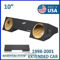 Dodge Ram Extended Cab & Quad Cab 1998-2001 10 Dual Sub Box Subwoofer Enclosure