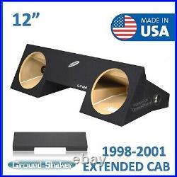 Dodge Ram Extended-Cab & Quad-Cab 1998-2001 12 Dual Sub Box Subwoofer Enclosure