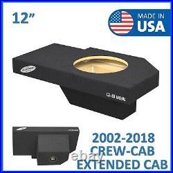Dodge Ram Quad cab 2002-2018 12 Single sub box Subwoofer Enclosure