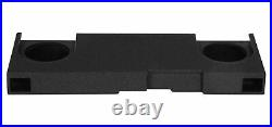 Dual 10 Ported Vented Subwoofer Sub Box Enclosure For 14-15 GM/Chevy Crew Cab