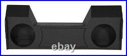 Dual 12 Bedlined Subwoofer Sub Box Enclosure for 2019-2020 Dodge Ram Crew Cab