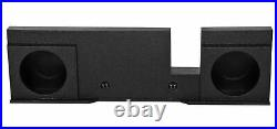 Dual 12 Sealed Subwoofer Sub Box Enclosure For 04-08 Ford F150 Xcab SuperCrew