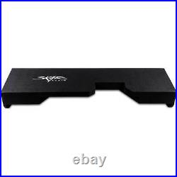 Fits 2014-2018 Chevy Silverado & GMC Sierra Double Cabs Dual 12 Subwoofer Box