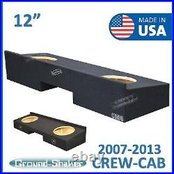 Fits Chevy Silverado Crew-Cab 2007-2013 12 Dual Sub box Subwoofer Enclosure