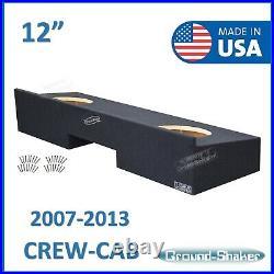 Fits Chevy Silverado Crew-Cab 2007-2013 12 Dual speaker box Subwoofer Enclosure
