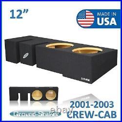 Fits Ford F-150 Crew Cab 2001-2003 12 Dual Sealed Sub Box Subwoofer Enclosure