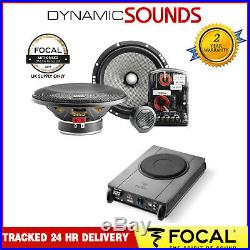 Focal Access Series 2Way Component Car Speakers with Under Seat Active Subwoofer