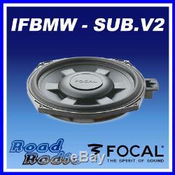 Focal IFBMW-SUB V. 2 8 BMW 1, 3 Serires X1 Custom Fit Underseat Car Sub 90W