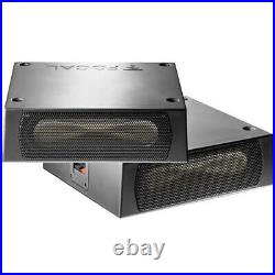 Focal ISUB Twin Sub Powerful Compact Passive Underseat Car Subwoofer 2x 100w RMS