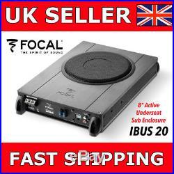 Focal iBus20 8 Active Underseat Sub Car Van Subwoofer Slim Subwoofer Inc Wiring