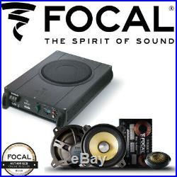 Focal iBus 2.1 UnderSeat Active Subwoofer + ES100K 4 2-Way Component Speakers