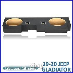 For 2019-2020 Jeep Gladiator 10 Dual Sealed Sub Box Subwoofer Enclosure