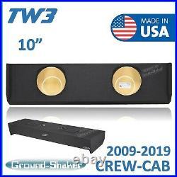 Ford F150 2009-2019 Crew-Cab 10 Dual Sub Box Subwoofer Enclosure For JL TW3