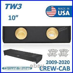 Ford F150 2009-2020 Crew-Cab 10 Dual Sub Box Subwoofer Enclosure For JL TW3