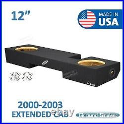 Ford F-150 Extended Cab Truck 2000-2003 12 Dual Sub Box Subwoofer Enclosure