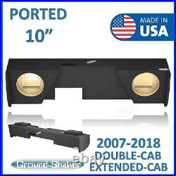 Gmc Sierra 2007-2018 Extended-Cab 10 Dual Ported Sub Box Subwoofer Enclosure