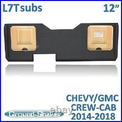 Gmc Sierra Crew-Cab truck For kicker L7T 12 Dual Subwoofer enclosure sub box