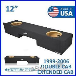 Gmc Sierra Extended Cab 1999-2006 12 Dual Sub Box Subwoofer Enclosure