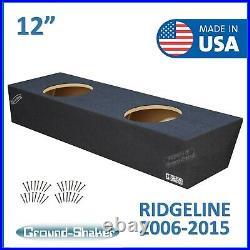 Honda Ridgeline Crew-Cab 2006-2015 12 Dual Sealed Sub Box Subwoofer Enclosure