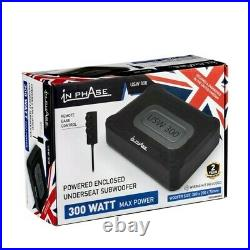 In Phase USW300 Underseat subwoofer 300 Watts Wired Remote Control