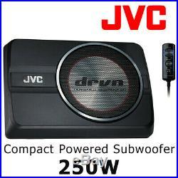 JVC CW-DRA8 20cm (8'') Underseat Compact Powered Subwoofer 250W Bass Woofer