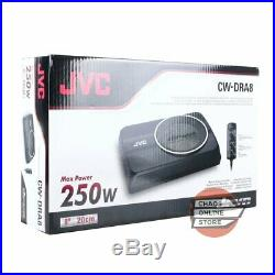 JVC CW-DRA8 8 (20cm) DRVN Series 250W Compact Powered Underseat Car Subwoofer