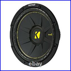 KICKER 44CWCS124 12 Inch 600W Subwoofers + For Dodge Ram Quad'02-New Box