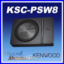 Kenwood KSC-PSW8 Compact Under Seat Active Amplified Powered Subwoofer 250W