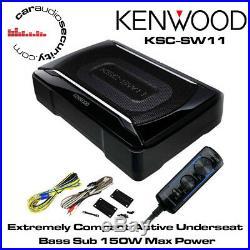 Kenwood Ksc-sw11 Active Underseat Subwoofer Amp Built-in 150 Watts Bass Control